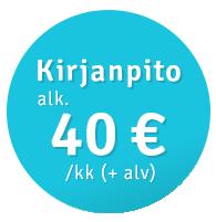 Kirjanpito alkaen 40 €/kk