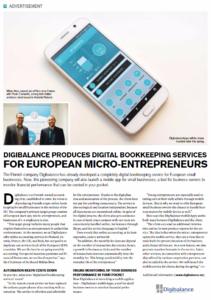 Finnair Blue Wings -lehdessä julkaistu artikkeli Digibalance Ltd.:sta
